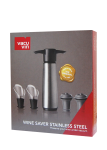 Wine Saver Stainless Steel (1 Pump, 2 Stoppers, 2 Servers)