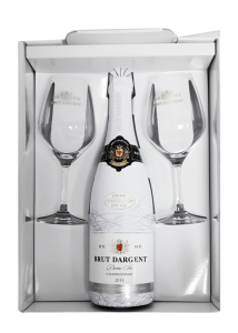 Brut Dargent Ice Chardonnay 75Cl (Gift Box With 2 Wine Glass)