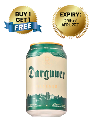 Darguner Pilsener 5% Can 33Cl ( Buy 1 Get 1 Free)