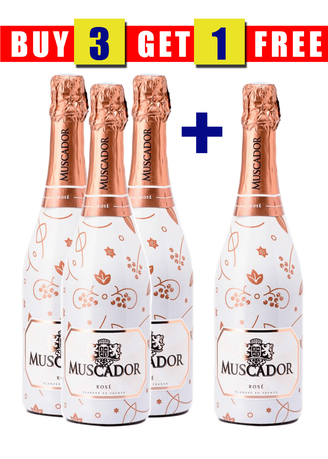 MUSCADOR ICE ROSE 75CL (BUY 3 GET 1 FREE)
