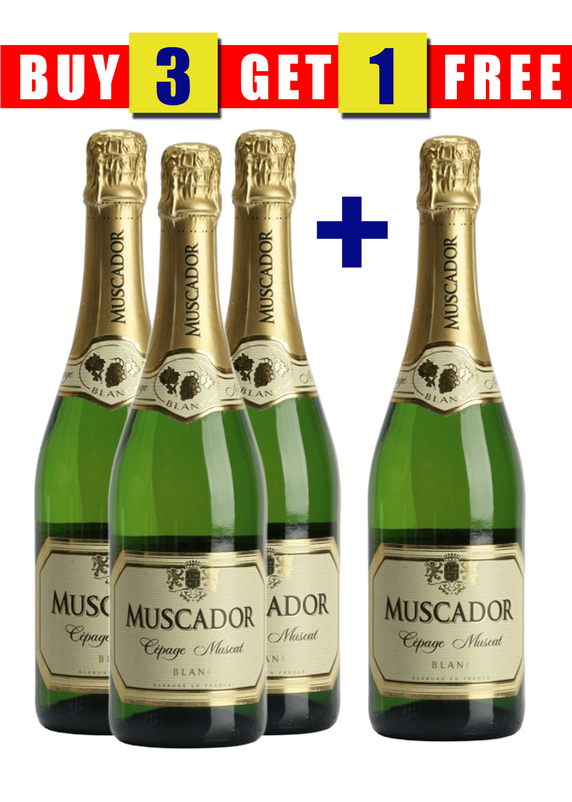 MUSCADOR SPARKLING BLANC 75CL (BUY 3 GET 1 FREE)