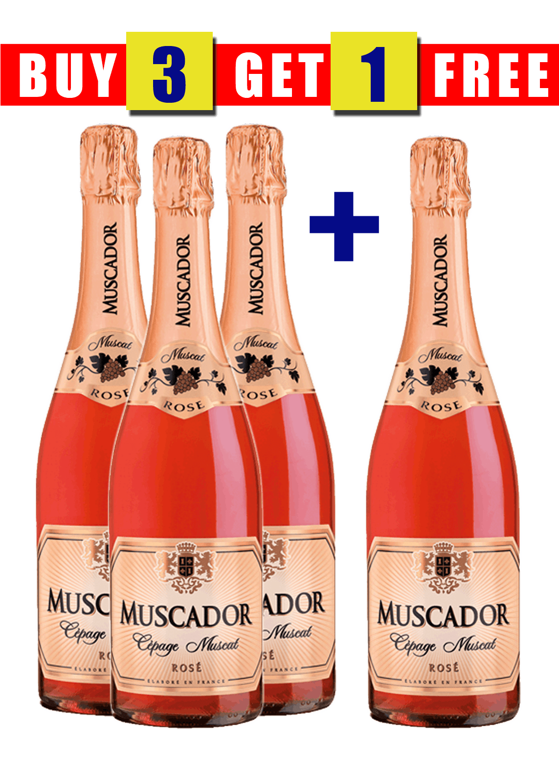 MUSCADOR SPARKLING ROSE 75CL (BUY 3 GET 1 FREE)